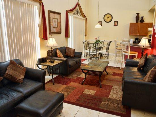 Living Area - CL7P5418CLC 7 BR Pool Home with Lovely Furnishings - Kissimmee - rentals