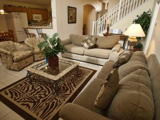 Living Area - EI5P8632LID 5 BR Emerald Island Rental Home Near Disney - Four Corners - rentals