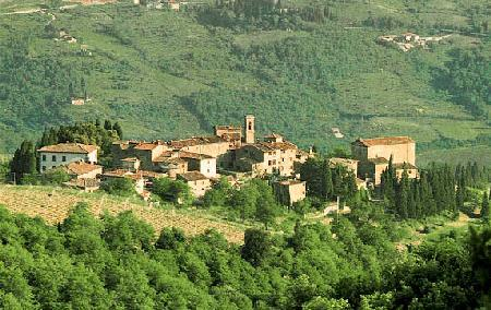 La Pozza di Volpaia- near center of medieval hamlet, lush scenery & intimate pool - Image 1 - Chianti - rentals