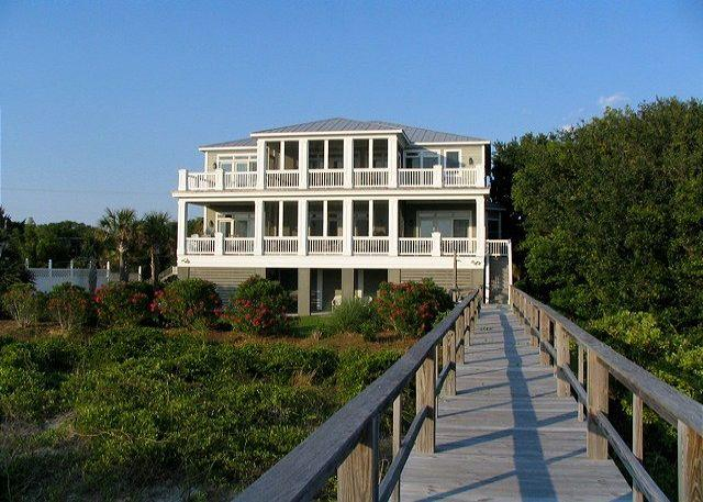 Exterior - Edisto Sunset - Beach Front Showplace For Large Group - Edisto Beach - rentals