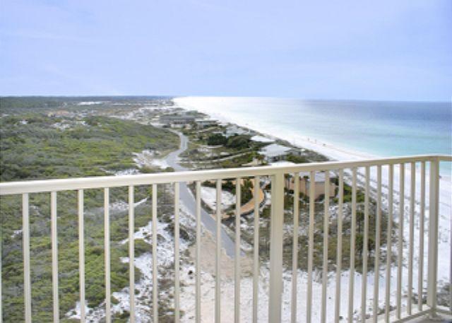 Balcony Gulf View - BEACHFRONT FOR 6! BEAUTIFUL CONDO! NOW 20% OFF SEPT/OCT STAYS! - Destin - rentals