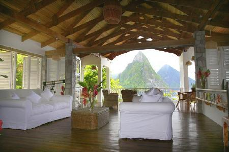 Le Gallerie overlooking Soufriere Bay - Pool and Private Beach - Image 1 - Soufriere - rentals