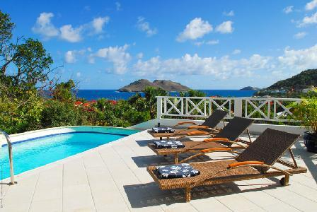 Villa Mahogany with excellent views from every room, pool & close to beach - Image 1 - Flamands - rentals
