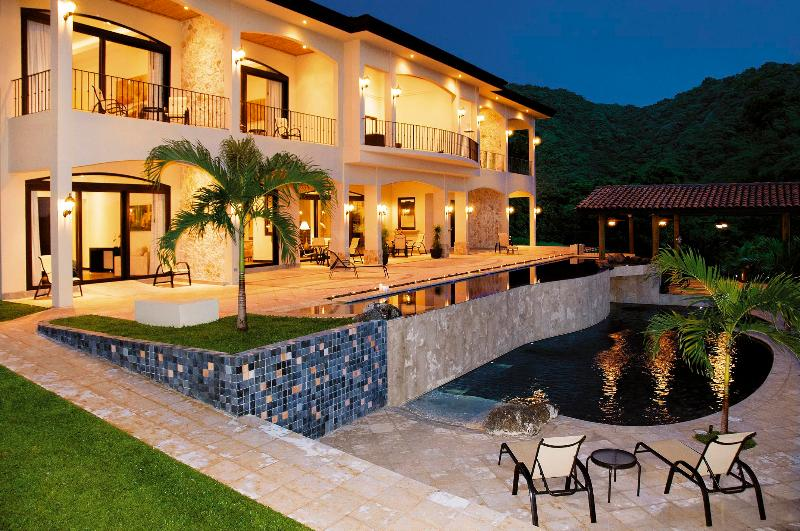 Exterior and 2-Tier Swimming Pool  - Luxury 7 Bedroom, Ocean View Villa (12 Guests Min) - Playas del Coco - rentals