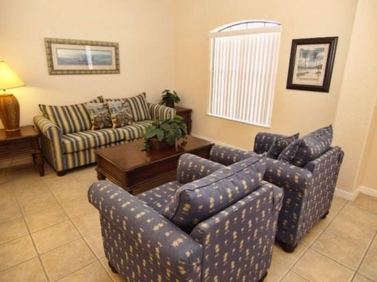 Living Area - HG5P149SPL 5 Bedroom Pool Home with Modern Amenities and WIFI - Four Corners - rentals