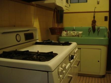 Kitchen with working antique appliances - Historic Apt. in Old San Juan (6-NIGHT MIN.) - San Juan - rentals