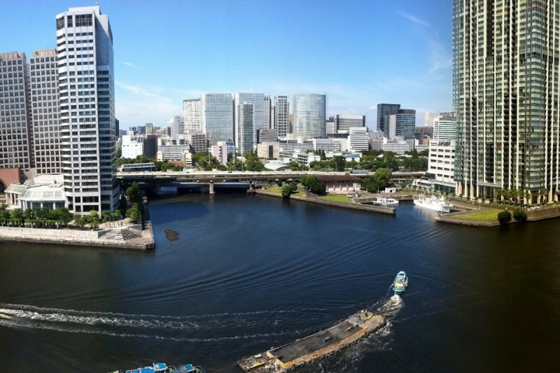 View from Balcony - Waterfront Penthouse: Huge Roof Deck & Great Views - Tokyo - rentals