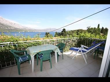 Purple (2+1): terrace - 039KORC Purple (2+1) - Korcula - Korcula - rentals