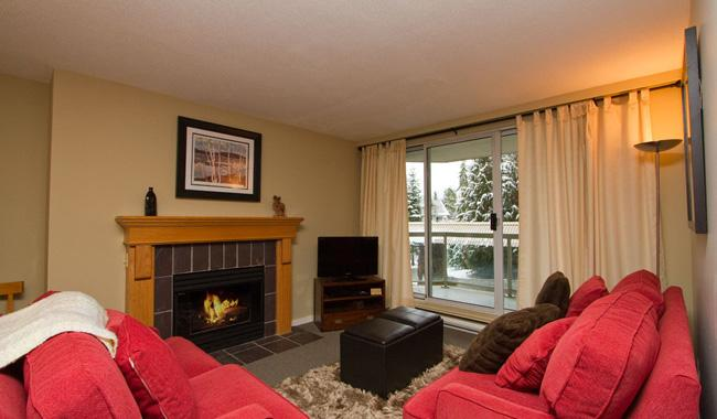 Cozy Living Area with Gas Fireplace - Woodrun 211 | Whistler Platinum | Ski-In/Ski-Out - Whistler - rentals
