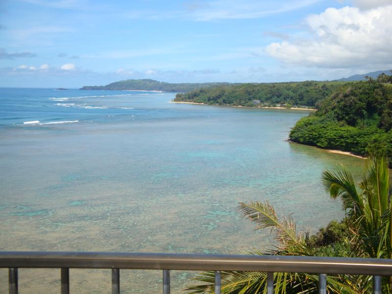 Direct & unobstructed views of Kauai's Northshore coastline from Lanai...Breathtaking Views! - Sealodge D9:Top Floor Oceanfront-Spectacular Views - Princeville - rentals