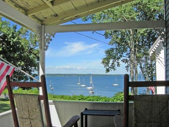 The view from the front porch of Penobscot Bay. - UNITY COTTAGE - Town of Northport - Bayside Village - Northport - rentals