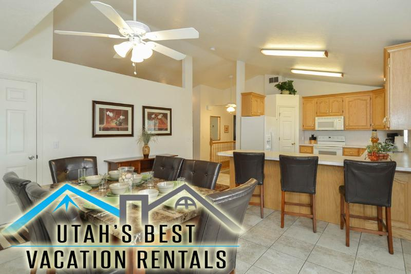 Enjoy large open kitchen and dining space for gatherings and families - Best Value in SLC! Spa+Billiards+Huge Yard+Plygrnd - Salt Lake City - rentals
