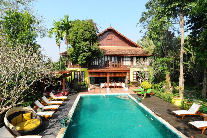 Main house as seen from first floor of Sala  - Baan Cheep Chang or VillaChiangMai - Chiang Mai - rentals
