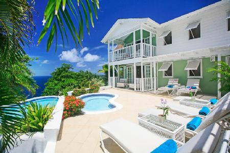 Saline Reef - Comfortable villa with uninterrupted sunset views, pool & beach nearby - Image 1 - Cap Estate - rentals