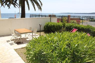 BEACHFRONT TWO BEDROOM APARTMENT WITH  GARDEN - CANNES - Image 1 - Cannes - rentals