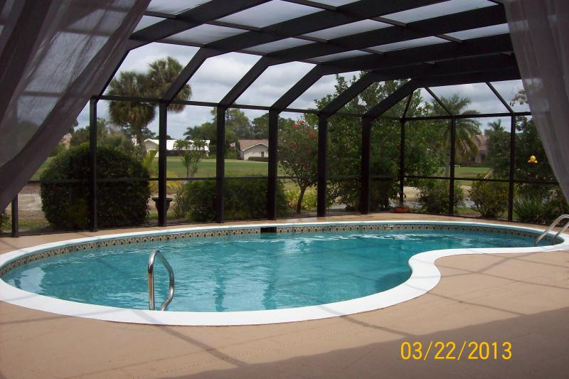Pool and lanai - Lely Golf Estates - golf, golf, golf! - Naples - rentals