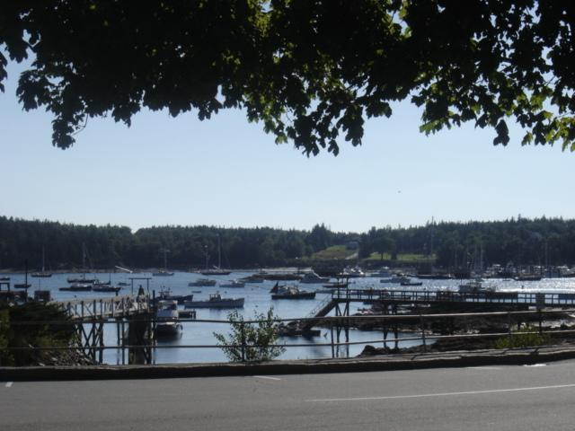 View from Dining Room - Captain Nathan Clark House - Southwest Harbor - rentals