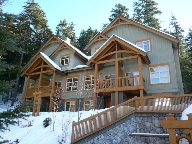 Our house is on the left - Whistler Ski In/out Luxury Townhome private h/tub - Whistler - rentals
