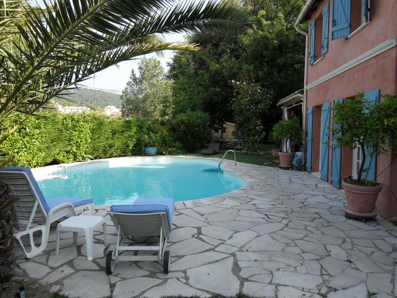 the house, the pool and the garden - Charming family Villa on the French Riviera - Le Rouret - rentals