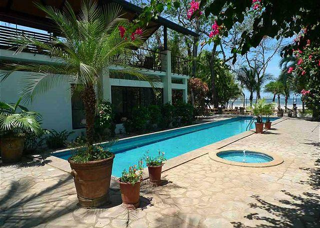 Pool and beach - Hacienda style beachfront home with a touch of class - Tamarindo - rentals