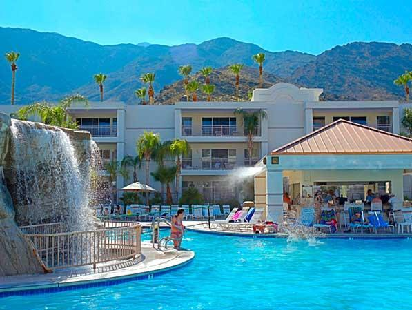 Pool - Relaxing Palm Springs resort with pool, waterslides, and spa near area attractions - Palm Springs - rentals