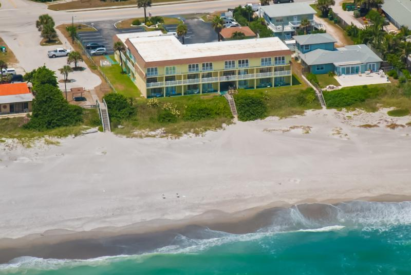 wide expansive beach - 3rd FL  Ocean side view w/Euro Folding Glass Door - Indialantic - rentals