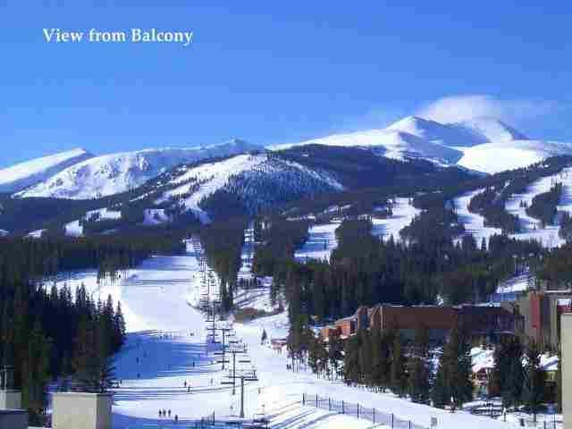View from Balcony/Master Bedroom & Living Area - Ski In/Ski Out Penthouse! Amazing Views! Walk to Town! 2B/2Bath. - Breckenridge - rentals