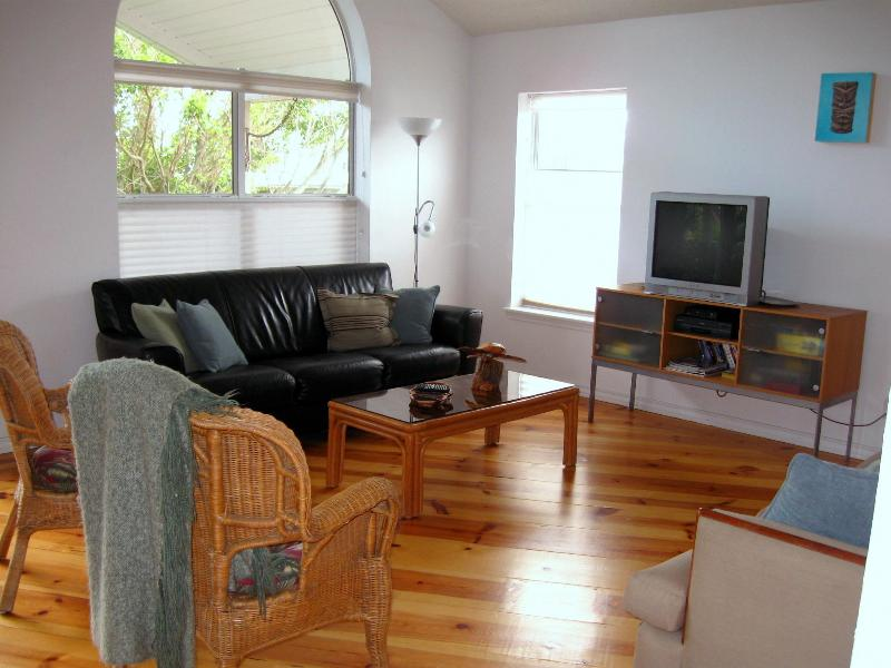 Our Living Room has a warm, custom Pine Floor. - Bahama Beach Lodge! - South Padre Island - rentals