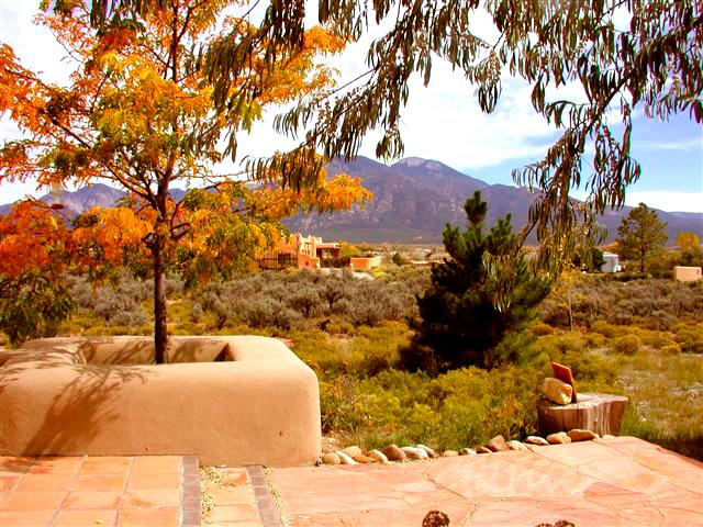 Front open patio view of Taos Mountain - Alta Vista - Taos - rentals