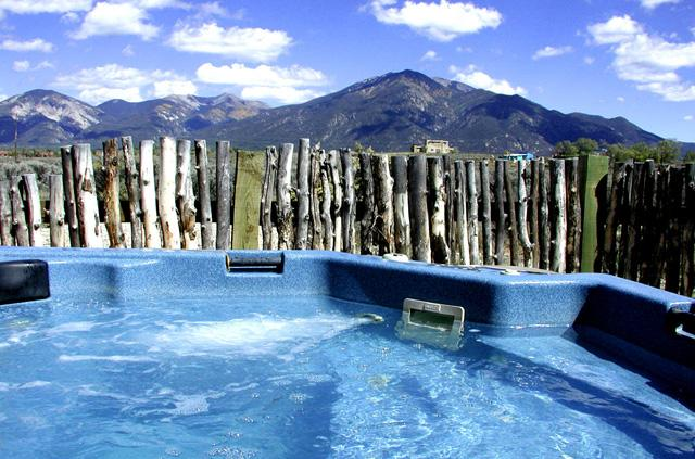 Private hot tub with mountain views - Casita Romantica Cabin - Taos - rentals