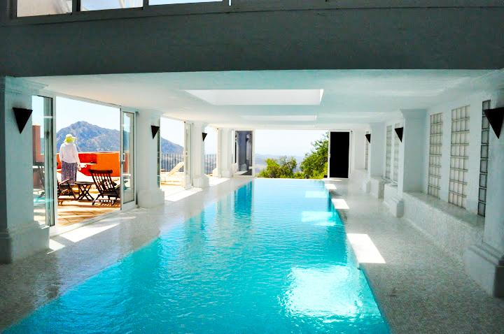 Covered heated pool, 17 m long - Spacious apt w/private covered heated pool - Gaucin - rentals