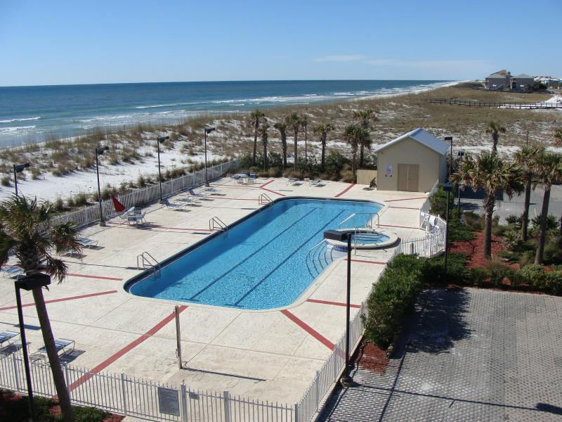 Balcony and Livingroom View - Pcola Bch 2 bd 2 ba Booking August - Pensacola Beach - rentals