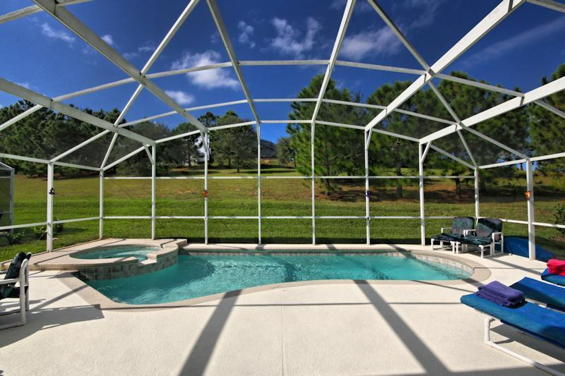 Pool Deck and View - LUXURY VILLA, WESTHAVEN with PRIVATE POOL/SPA NEAR DISNEY - Davenport - rentals