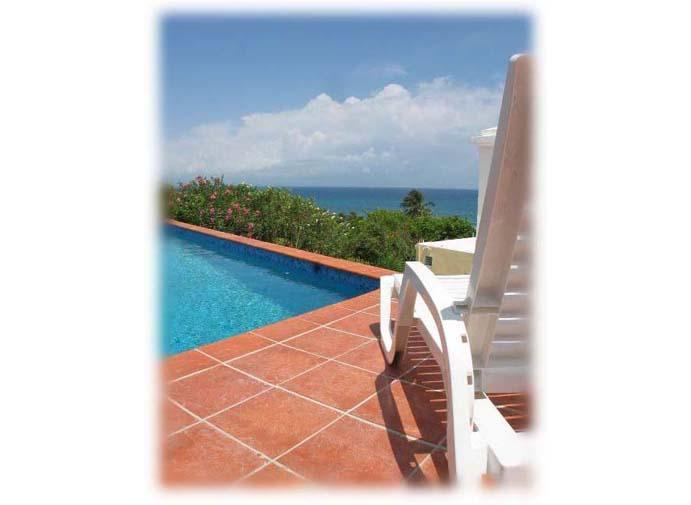 View to Main Island of Puerto Rico from pool deck. - La Roca ...The Best Views In Vieques - Vieques - rentals