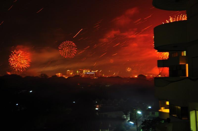 New Year fireworks from Studio balcony - My Chiang Mai Furnished Apartment's ( with pool ) - Chiang Mai - rentals