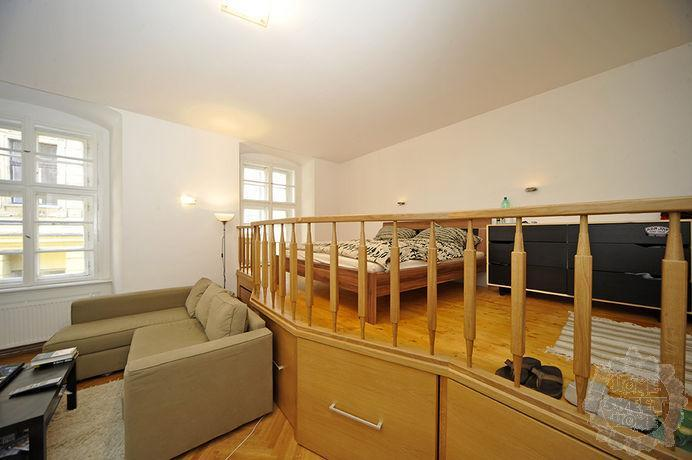 sleeping area - Luxury Old Town studio,garden,100m Charles Bridge - Prague - rentals
