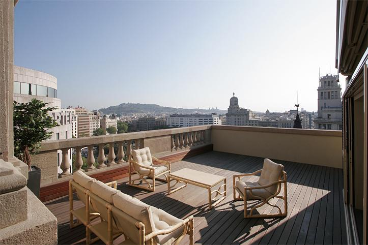 Terrace with the Plaza Catalunya views - Plaza Catalunya Terrace Penthouse - Barcelona - rentals