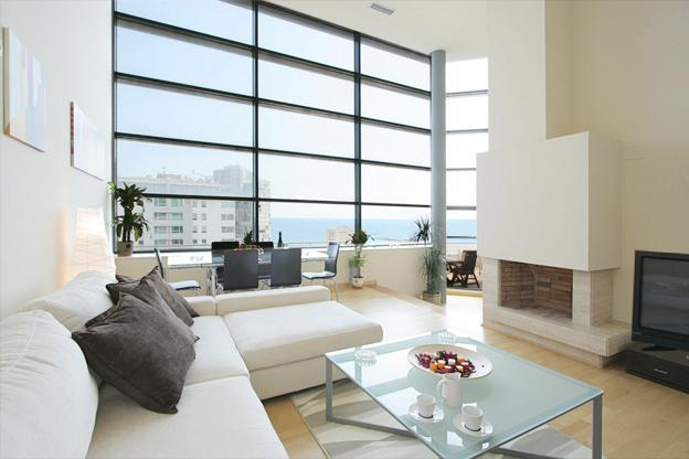 Living room - Exclusive Beach Penthouse with Pool and Gym - Barcelona - rentals