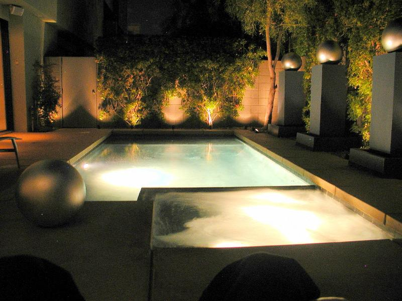 romantic poolside by night - New Luxury Designer Modern Home-Private Pool & Spa - Palm Springs - rentals