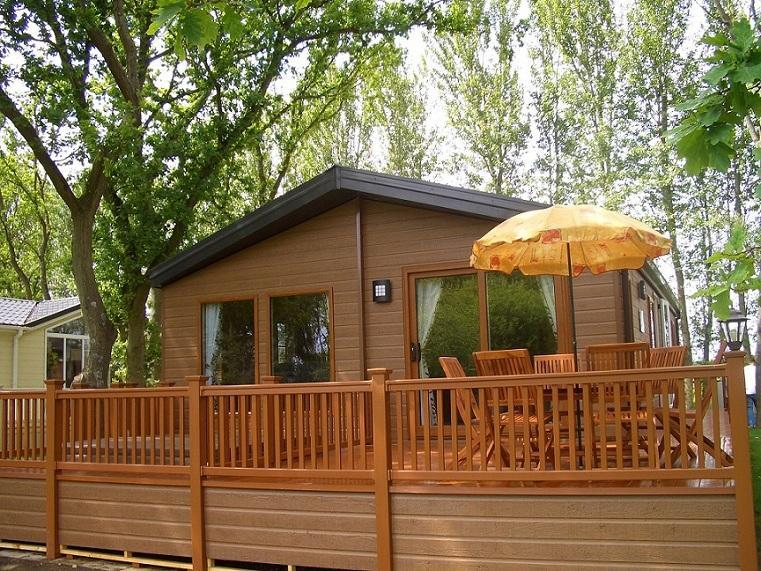 Front of Lodge - York Holiday Lodges - Luxury Log Cabins + Hot Tub - York - rentals