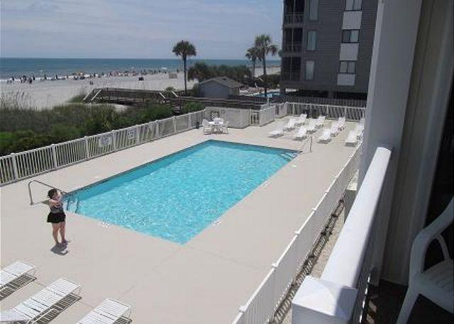 Oceanfront Pool - A Place At The Beach V 2nd Row Myrtle Beach South Carolina - Myrtle Beach - rentals