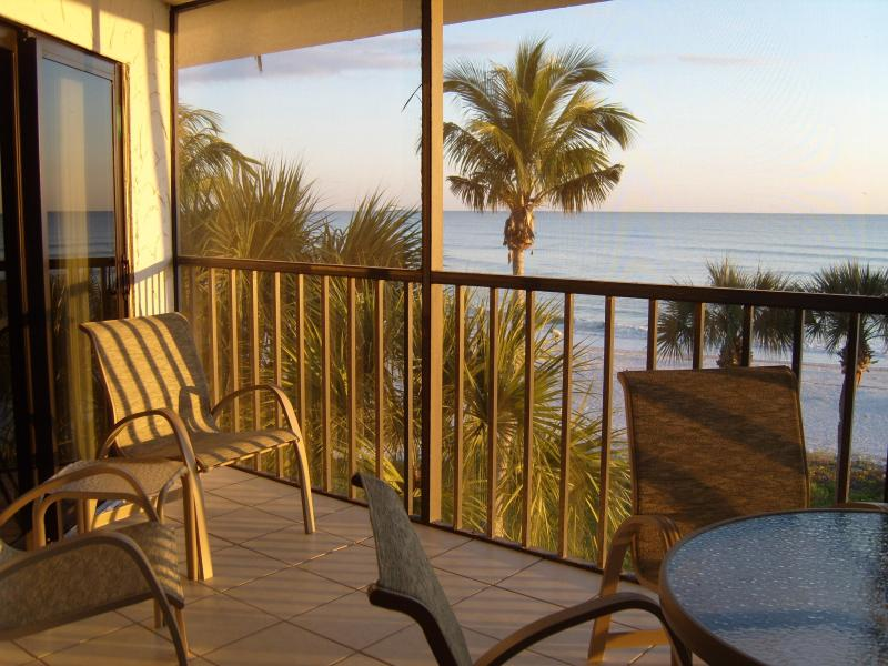 Watch the sunset from our 3rd floor lanai - Pointe Santo Luxury Beachfront Condo E35 - Sanibel Island - rentals