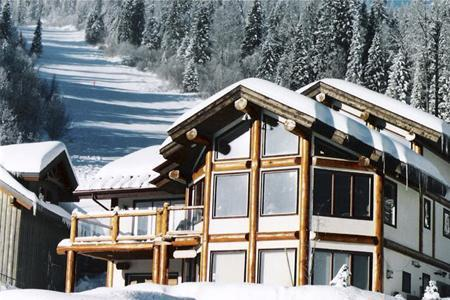 Kodiak Timber lodge nestled at bottom of Blazer ski run. - Sunburst Sun Peaks Chalet, BEST Ski in/ski out - Sun Peaks - rentals