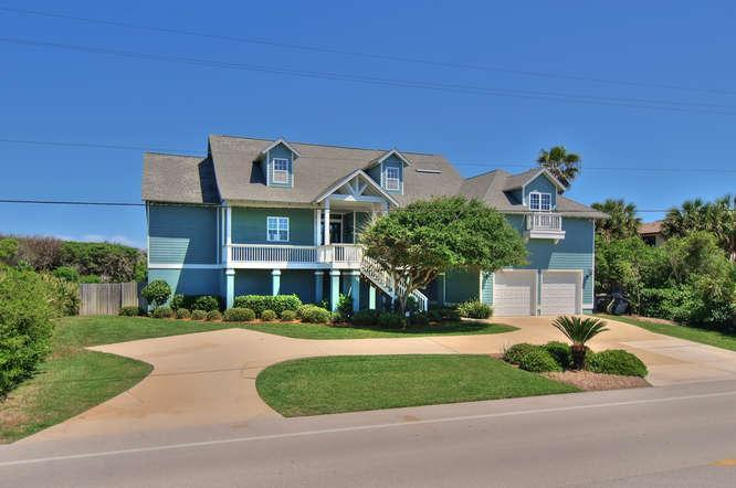 Seawatch front elevation - lots of parking - ocean directly behind - Perfect! - SEAWATCH- New Luxury 4/4 Oceanfront Home-Elevator! - Ponte Vedra Beach - rentals