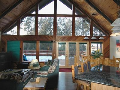 family room looking towards meadow - South Lake Tahoe Mountain Home on the Meadow - South Lake Tahoe - rentals