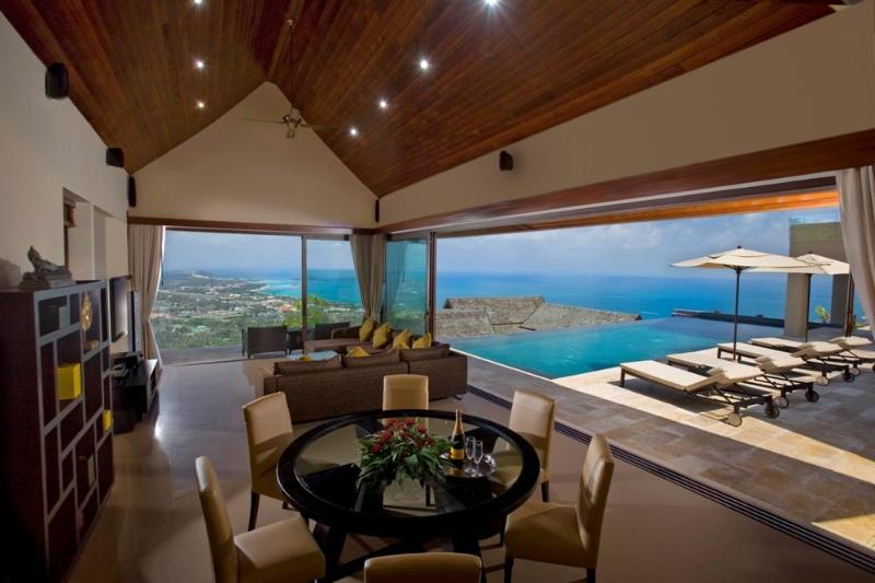 view from the living room - Rockwater villa - 5* Lifestyle with heavenly views - Koh Samui - rentals