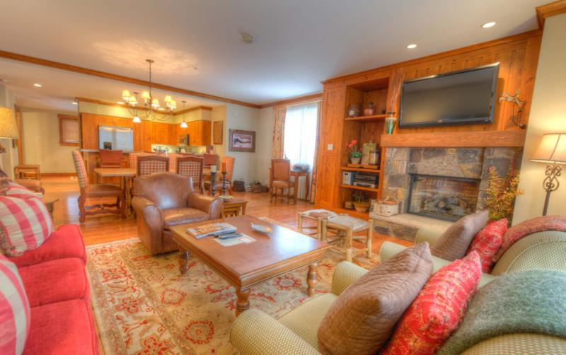 Spacious living area with entertainment center - Snowmass Club #144 - Snowmass - rentals