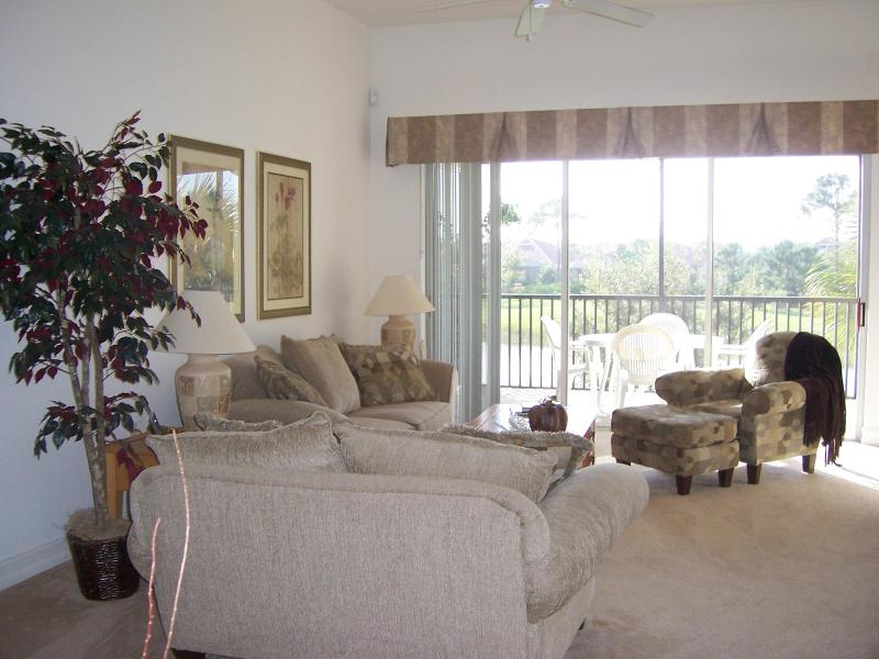 Living Room facing Lanai - Pelican Sound Golf and River Club - Estero - rentals