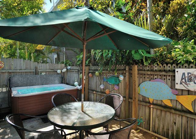 Private Deck Complete With 4 Person Private Tub - Conch Casa - Nightly - Key West - rentals