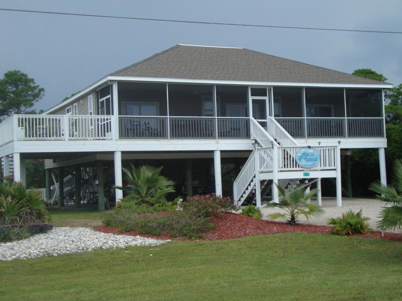 front of the house, nice grass yard - Discounts for Military, police, fire  FREE POOL HEAT -GOLF CART - Saint George Island - rentals